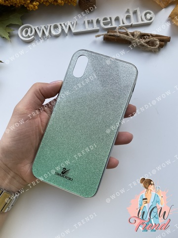 Чехол iPhone X/XS Swarovski Case /green/