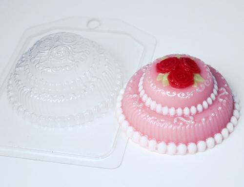 Торт мини с розами, форма пластиковая