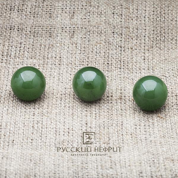 Шарики (бусины) Шарик 12мм. Зелёный нефрит (класс модэ). businy_zel_12_2.jpg