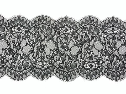 Кружево реснички черное (22 х 300 см)