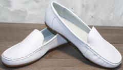 Женские мокасины из натуральной кожи AESD 902 White