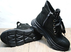 Сникерсы на толстой подошве Rifellini Rovigo 525 Black.
