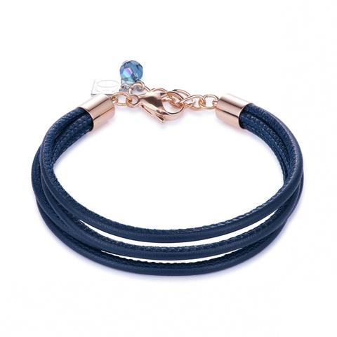 Браслет Coeur de Lion 0219/30-0722 цвет тёмно-синий