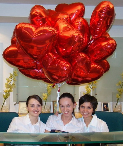 Фольгированные шары сердца красные