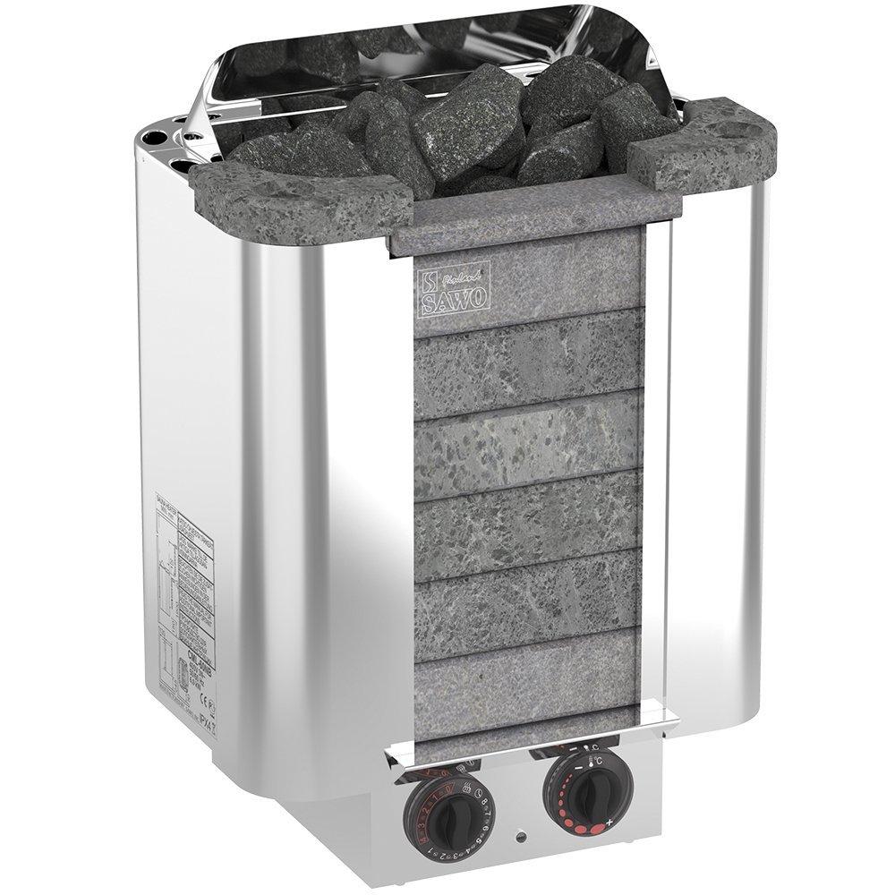Серия Cumulus: Электрическая печь SAWO CUMULUS CML-90NB-P (9 кВт, встроенный пульт, облицовка – талькохлорит)