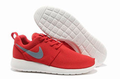 Кроссовки Женские Nike Roshe Run Material Red White