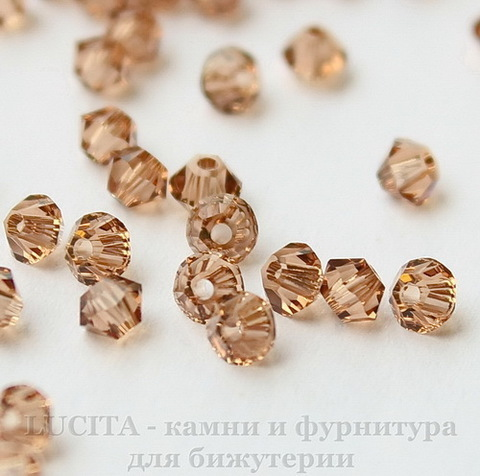 5328 Бусина - биконус Сваровски Light Smoked Topaz  4 мм, 10 штук (1)