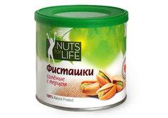 Фисташка соленая с перцем Nuts for Life, 100г
