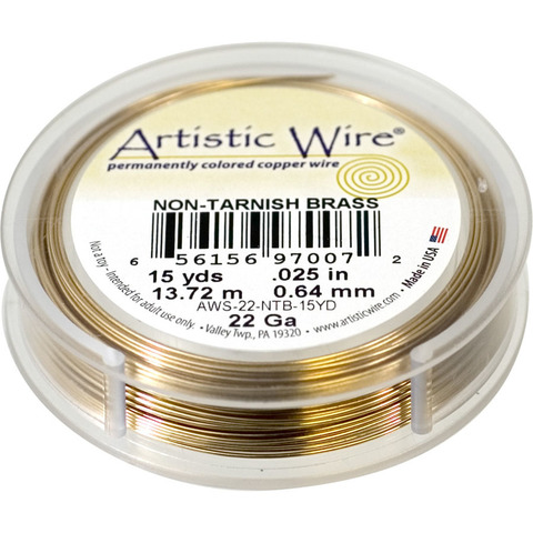 Проволока Artistic Wire 22 Ga (0.644 мм) Non-Tarnish Brass