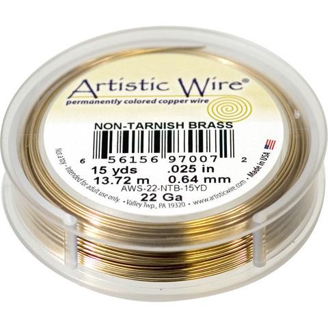 Проволока Artistic Wire 22 Ga (0.644 мм) Non-Tarnish Brass