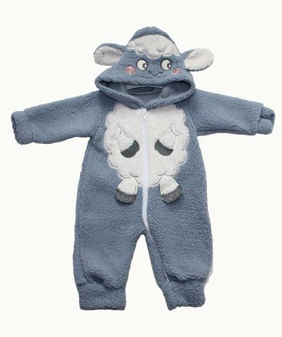 NURCIX Комбинезон для малышей из вельсофта серый