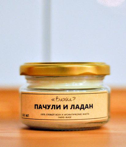 Свеча ароматическая Пачули и ладан, Banka home