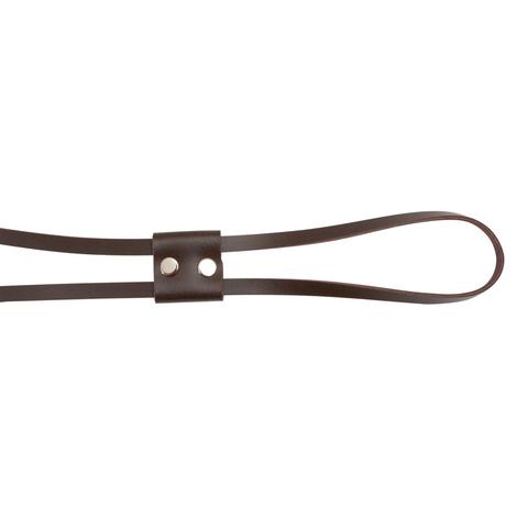 Кожаная утяжка 70 см темно-коричневая
