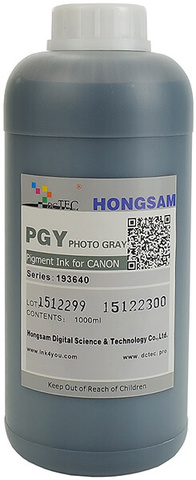 Чернила DCTec iPF6400/iPF8400 Photo Gray (PGy) 1000мл пигмент (серия 193640)