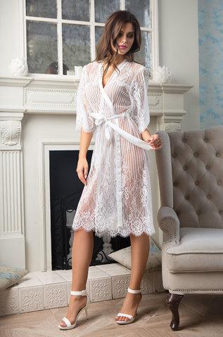 Женский кружевной халат MIA-MIA Lolita Лолита 17463 белый
