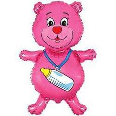 F Мини фигура Медвежонок девочка (фуксия) / Bear boy (14
