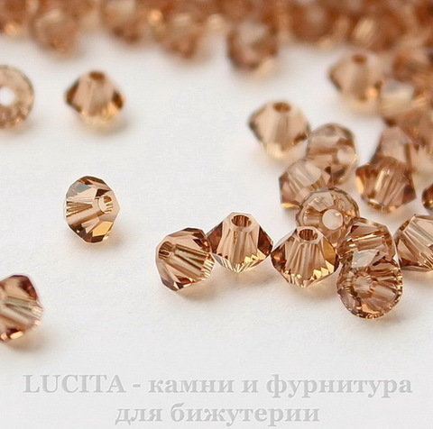 5328 Бусина - биконус Сваровски Light Smoked Topaz  4 мм, 10 штук (11)