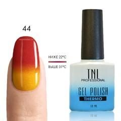 Термо гель-лак TNL 44 - красно-оражевый/мандариновый (с микроблёстками), 10 мл