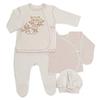 Набор одежды для новорожденных (Распашонка, ползунки, кофточка, шапочка)