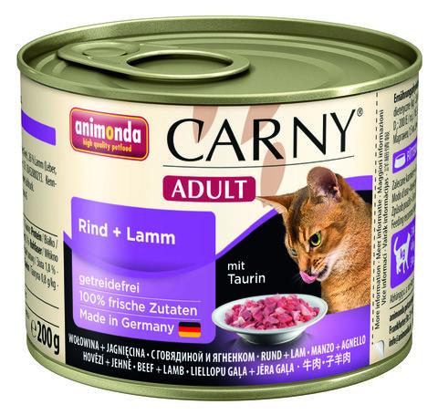 Консервы Animonda Carny Adult с говядиной и ягненком для взрослых кошек