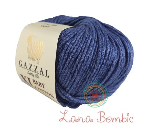 Пряжа Gazzal Baby Cotton XL джинс 3431