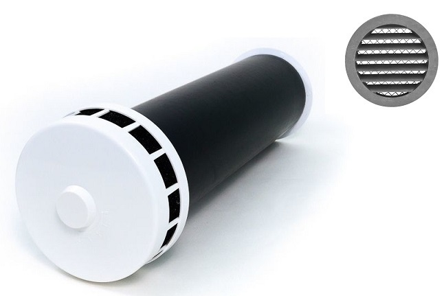 Airone (Россия) КИВ 125 1м с антивандальной решеткой. Клапан Инфильтрации Воздуха КИВ_125.jpg