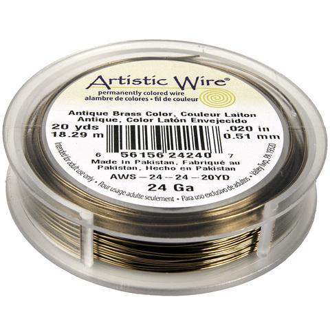 Проволока Artistic Wire 24 Ga (0.511 мм) Antique Brass