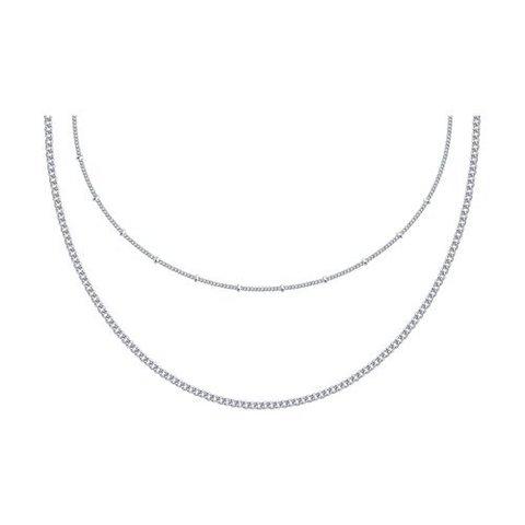 94074633 - Колье из серебра -перлинка двухрядное