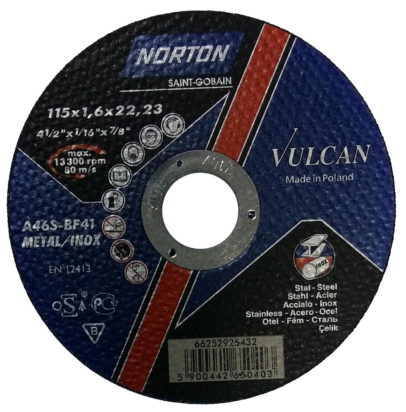 Отрезной круг NORTON 115х1,6х22,23