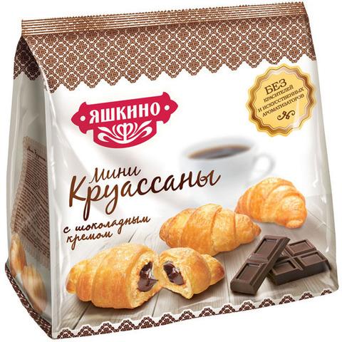 """Круассан мини """"Яшкино"""" с шоколадным кремом 180 г"""