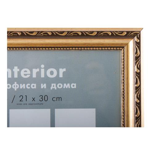 Фоторамка Майолика баклажан 10х15 Формат-А (золото)