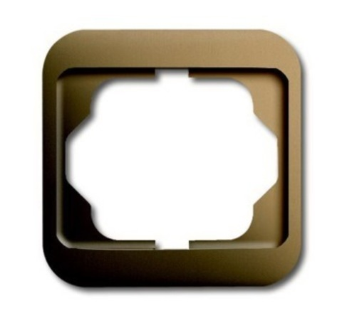 Рамка на 1 пост. Цвет Бронза. ABB(АББ). Alpha Nea(Альфа Ние). 1754-0-4522