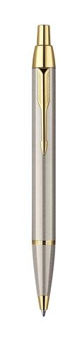 Шариковая ручка Parker IM Metal, K223, цвет: Brushed Metal GT, стержень: черный123