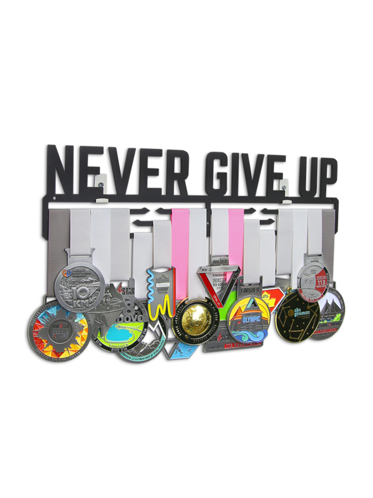 Медальница Never give up