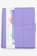 Простыня на резинке 180x200 Сaleffi Raso Tinta Unito с бордюром сатин фиолетовая