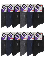 F503-4 носки мужские 40-47 (12шт), цветные