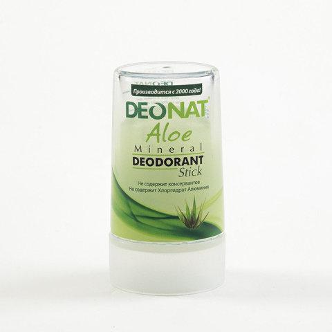 Deonat, Дезодорант Кристалл с соком АЛОЕ, зеленый стик, 40гр