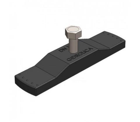 Крепеж для лотка водоотводного пластикового DN100 с болтом 8х35 Gidrolica