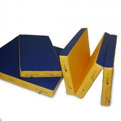 Мат гимнастический складной, иск. кожа, 1х1.5х0.1 м (в 3 сложения).