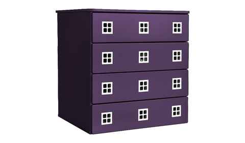 Комод для детской комнаты фиолетовый