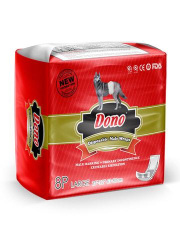Dono одноразовые впитывающие пояса для кобелей размер L 8 штук