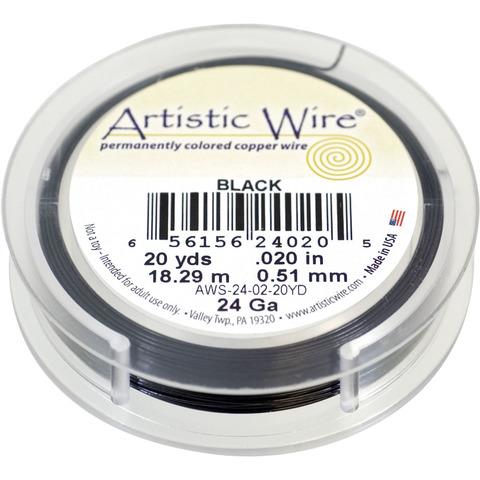Проволока Artistic Wire 24 Ga (0.511 мм) Black