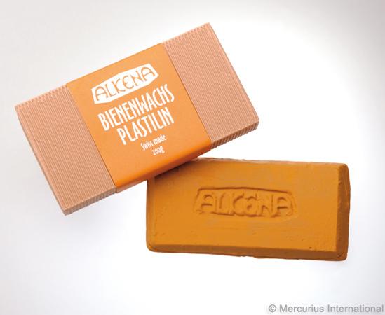 Пластилин натуральный для лепки - желтый/200 гр (Alkena)