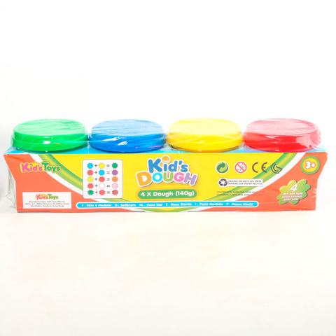 Набор пластилина Kid's Dough, 4 баночки по 140 гр.