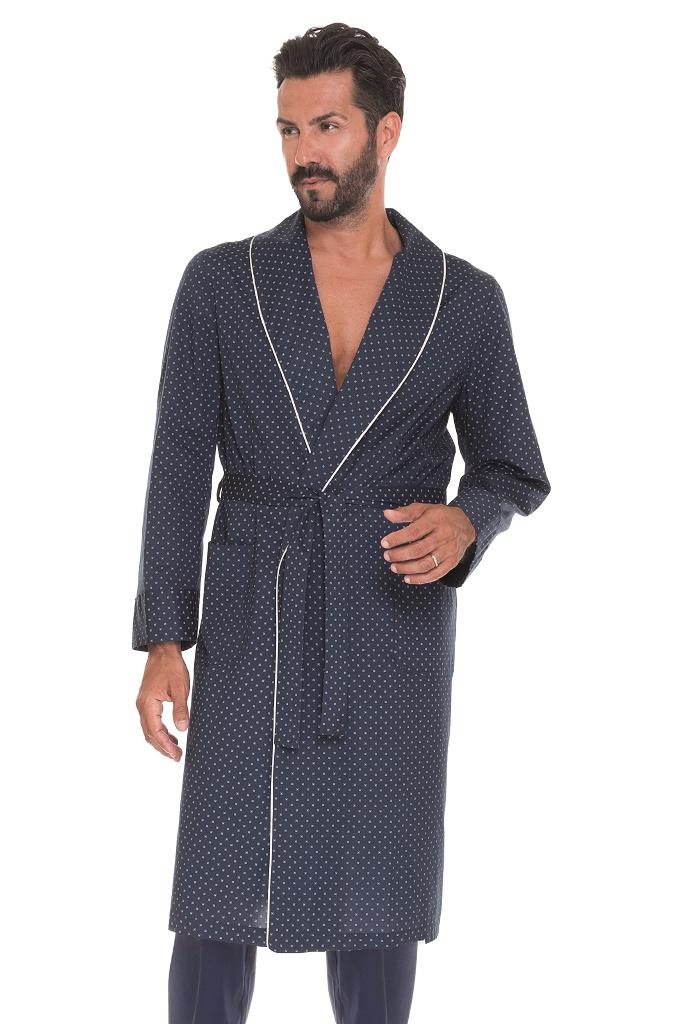 Мужской халат с кантом B&B