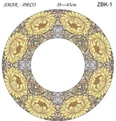 Эскиз для росписи, Зеркало диаметр-45см, SMAR-ZBK-1
