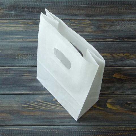 Крафт-пакет с прорубной ручкой (14*21*7см)