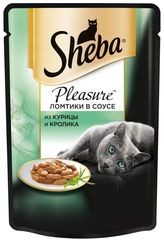 """Корм для кошек Sheba pleasure """"С курицей и кроликом"""" 85г"""