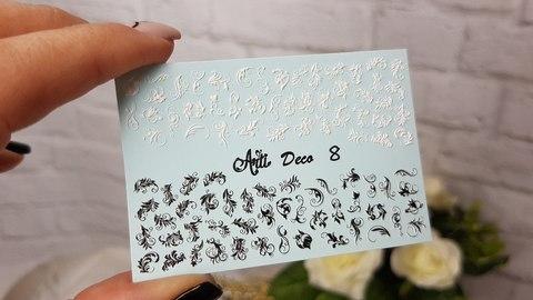 Слайдер Arti 3D Deco № 008 - голубая подложка