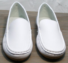 Мокасины из кожи женские AESD 902 White